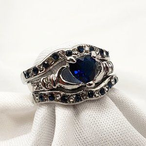 Lovely Blue Stones in a 3 Pc Ring Set